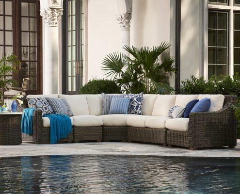 lane venture oasis sectional patio furniture nj